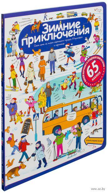 Зимние приключения. Рассказы по картинкам с наклейками — фото, картинка