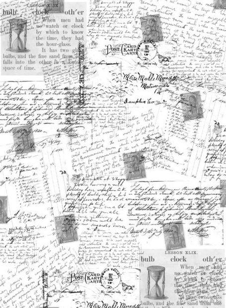 """Калька с принтом """"Почтовые открытки"""" (А4) — фото, картинка"""