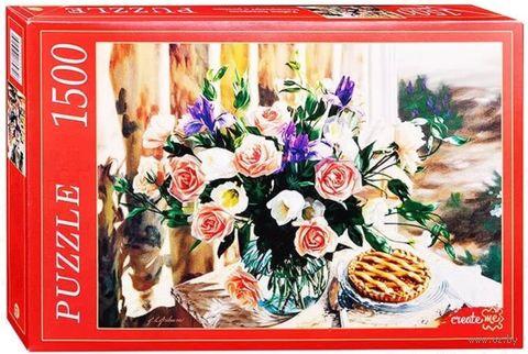 """Пазл """"Натюрморт с розами"""" (1500 элементов) — фото, картинка"""