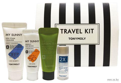 """Подарочный набор для лица """"Travel Kit"""" (пенка для умывания, солнцезащтный крем 50 SPF+, увлажняющий крем, эссенция) — фото, картинка"""
