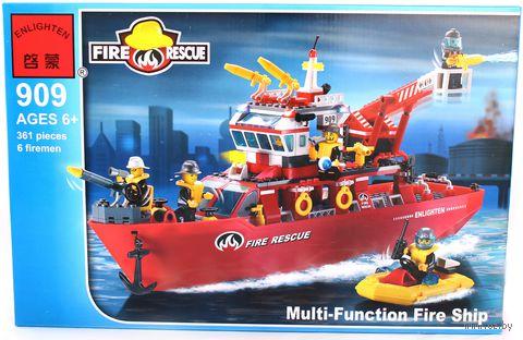 """Конструктор """"Fire Rescue. Корабль пожарной службы с аксессуарами"""" (361 деталь)"""