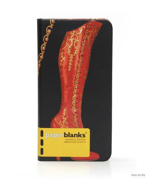 "Алфавитная книга Paperblanks ""Сапоги на пуговицах"" (формат: 95*180 мм, слим)"