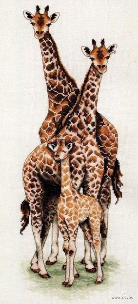 """Вышивка крестом """"Семья жирафов"""""""