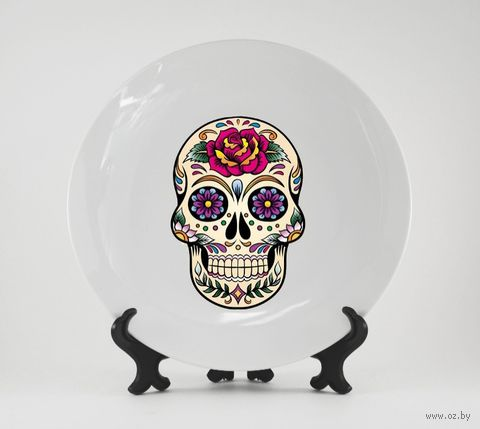 "Тарелка ""Мексиканский череп"" (166)"