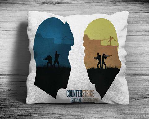 "Подушка ""Counter Strike Go"" (арт. 2; 28х28 см) — фото, картинка"