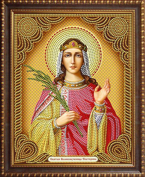 """Алмазная вышивка-мозаика """"Святая Великомученица Екатерина"""" (280х220 мм) — фото, картинка"""