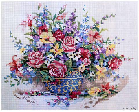 """Алмазная вышивка-мозаика """"Нежный букет"""" (400x500 мм) — фото, картинка"""