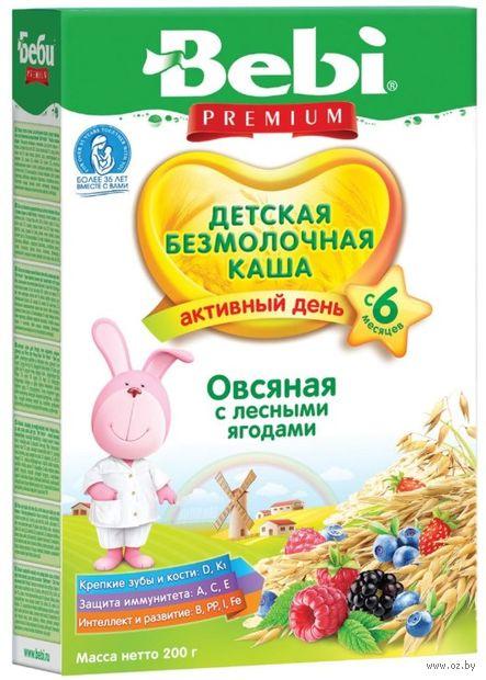 """Детская каша Bebi Premium """"Овсяная с лесными ягодами"""" (200 г) — фото, картинка"""