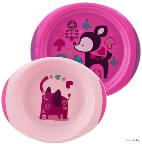 Набор посуды (миска, тарелка; арт. 00016002100000) — фото, картинка