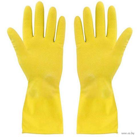 Перчатки хозяйственные резиновые (1 пара) — фото, картинка