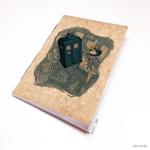 """Блокнот крафт """"Доктор Кто. Тардис и Алиса"""" А7 (012)"""