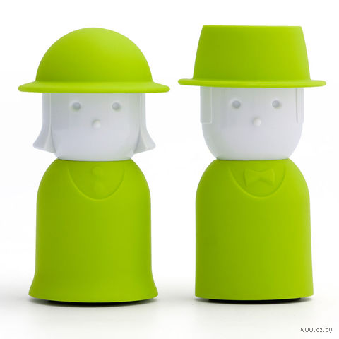 """Солонка и перечница """"Mr.Pepper & Mrs. Salt"""" (зеленый)"""