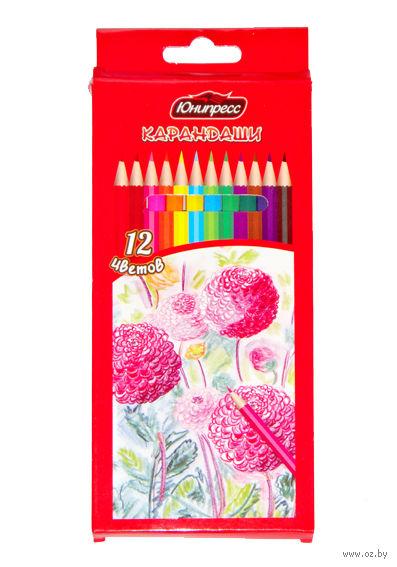 """Цветные карандаши """"Цветы"""" (12 цветов)"""