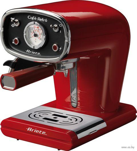 Кофеварка эспрессо Ariete Retro 1388 (красный) — фото, картинка