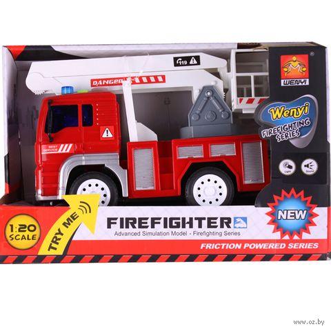 """Пожарная машина инерционная """"Firefighter"""" (арт. DV-T-458) — фото, картинка"""