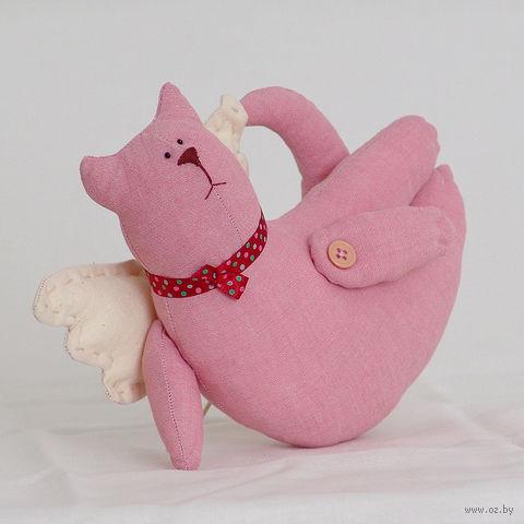 """Кукла ручной работы """"Кот"""" (летящий розовый)"""