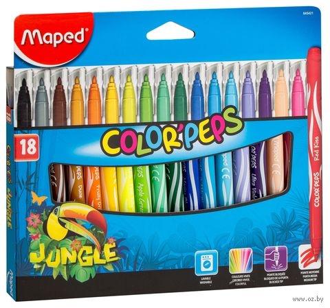 """Фломастеры """"Color Peps Jungle"""" (18 цветов)"""
