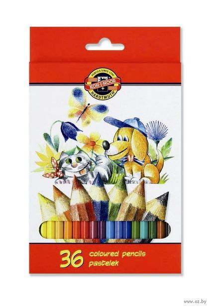 """Набор карандашей цветных """"La Paloma. Собака и кошка"""" (36 цветов)"""