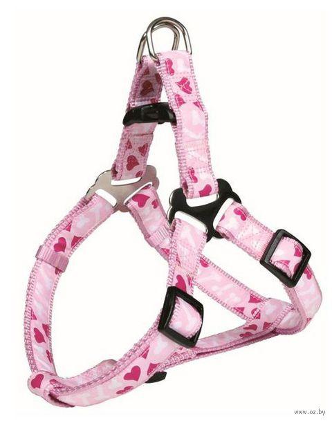 """Шлея для собак """"Modern Art Harness Rose Hearts"""" (размер M, 50-65 см, розовый, арт. 16048)"""