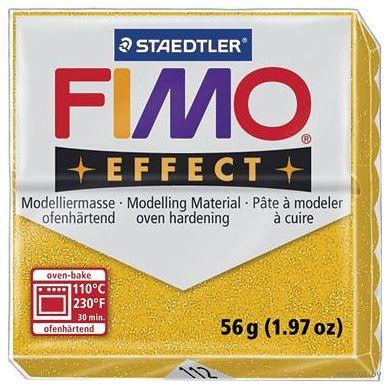 """Глина полимерная """"FIMO Effect"""" (золотой блеск; 56 г) — фото, картинка"""