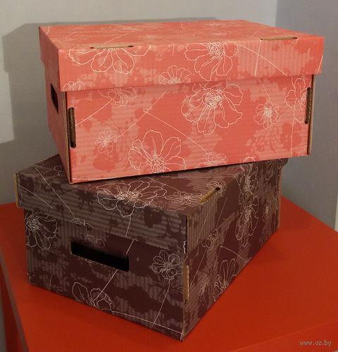 Набор коробок маленьких 2 шт. (красная и коричневая)