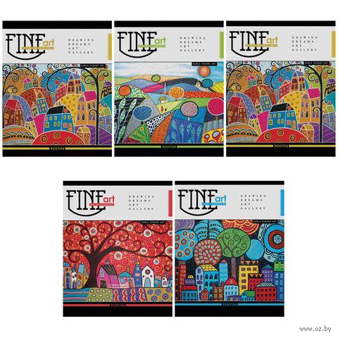 """Тетрадь в клетку """"Fine Art"""" (18 листов; в ассортименте)"""