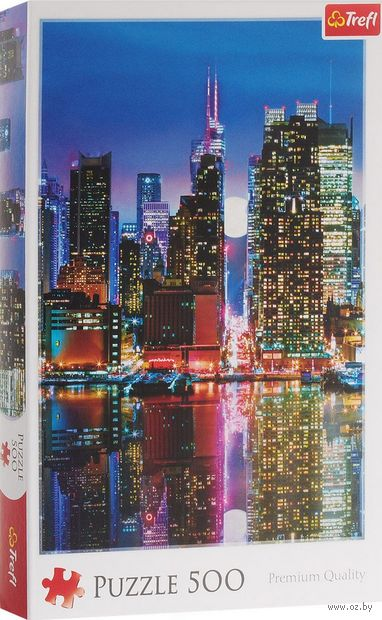"""Пазл """"Полная Луна над Манхэтенном"""" (500 элементов) — фото, картинка"""