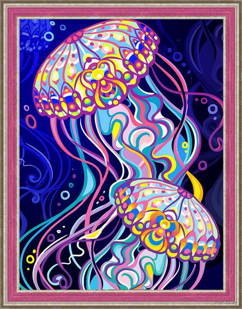 "Алмазная вышивка-мозаика ""Пара медуз"" (300х400 мм) — фото, картинка"