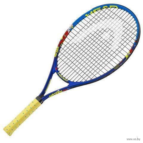 """Ракетка для большого тенниса """"Novak 23 Gr05"""" (сине-жёлтая) — фото, картинка"""