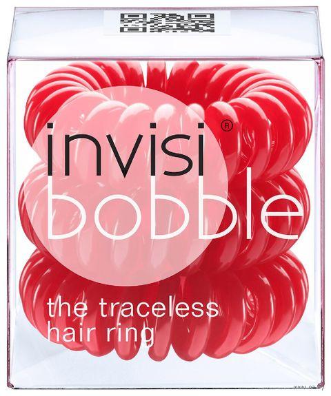 "Набор резинок-браслетов для волос ""Invisibobble Raspberry Red"" (3 шт.) — фото, картинка"