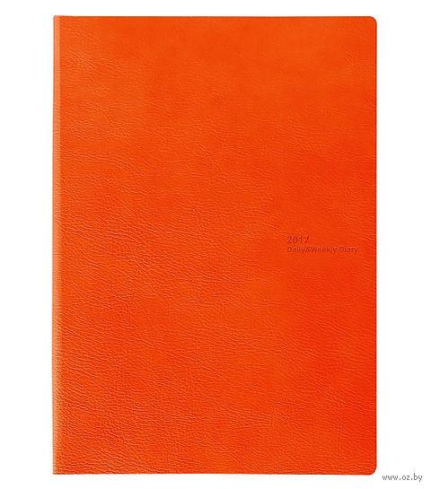 """Ежедневник-еженедельник 2 в 1 """"AVENUE"""" 2017 (165x235 мм; оранжевый)"""