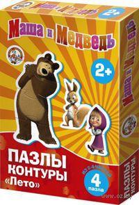 "Пазл-контур ""Маша и Медведь. Лето"""