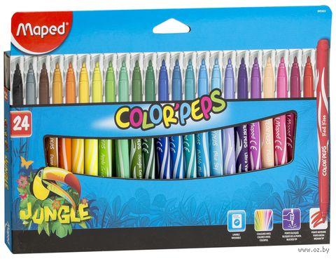 """Набор фломастеров цветных """"Color Peps Jungle"""" (24 цвета)"""