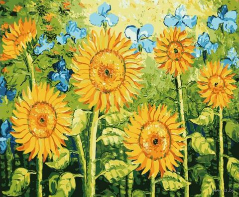 """Картина по номерам """"Цветы солнца"""" (400х500 мм)"""