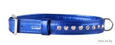 """Ошейник со стразами премиум класса """"Collar brilliance"""" (27-36 см, синий, арт. 30292-1)"""