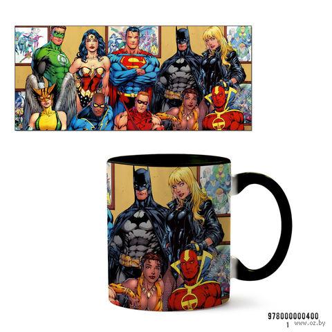 """Кружка """"Вселенная DC"""" (черная; арт. 400) — фото, картинка"""