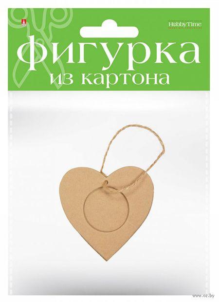 "Заготовка картонная ""Сердечко"" (80х80 мм) — фото, картинка"