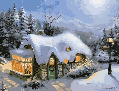 "Картина по номерам ""Зимний вечер"" (400х500 мм) — фото, картинка"