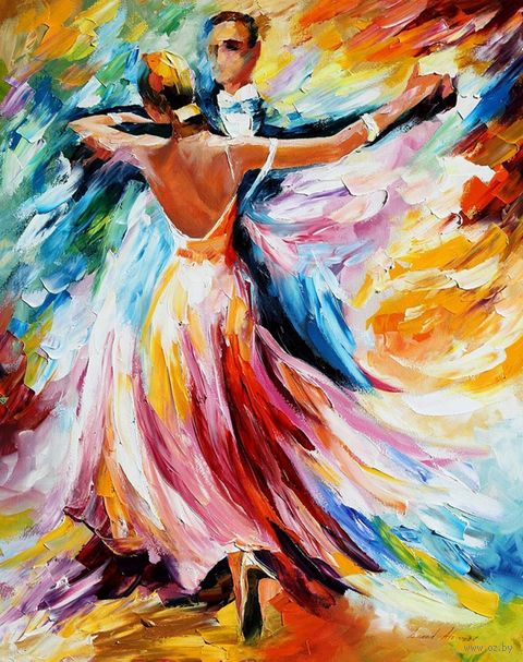"Алмазная вышивка-мозаика ""Танец красок"" (380х480 мм) — фото, картинка"