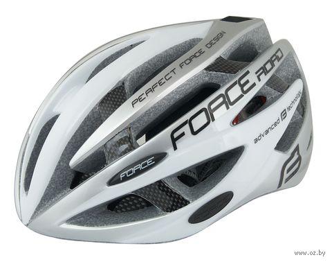 """Шлем велосипедный """"Road"""" (бело-серый; р. S-M) — фото, картинка"""