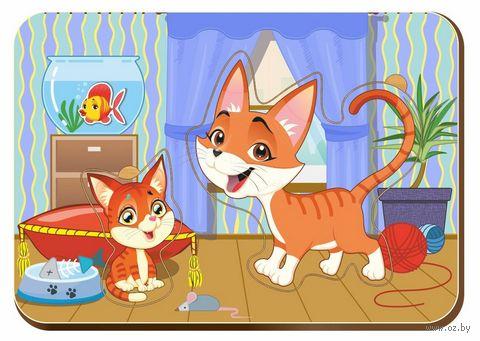 "Рамка-вкладыш ""Мама и детёныш. Кошки"" (арт. 011321) — фото, картинка"