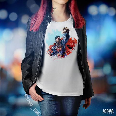 "Футболка женская ""Супермен"" XL (880)"