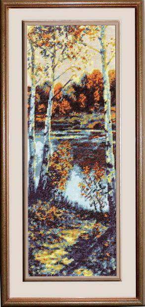 """Вышивка крестом """"Пейзаж"""" (150x440 мм) — фото, картинка"""