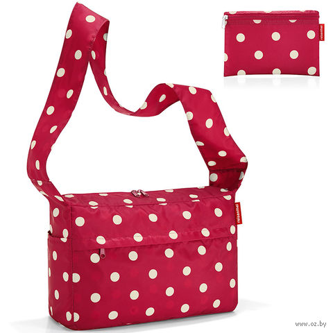 """Сумка складная """"Mini maxi citybag"""" (ruby dots)"""