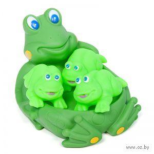 """Набор игрушек для купания """"Семья лягушек"""" (4 шт)"""