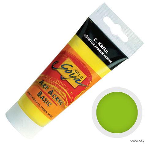 "Краска акриловая матовая ""Solo Goya Basic"" 18 (100 мл; желто-зеленый)"