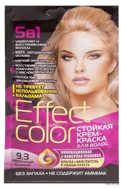 """Крем-краска для волос """"Effect Сolor"""" (тон: 9.3, жемчужный блондин) — фото, картинка"""
