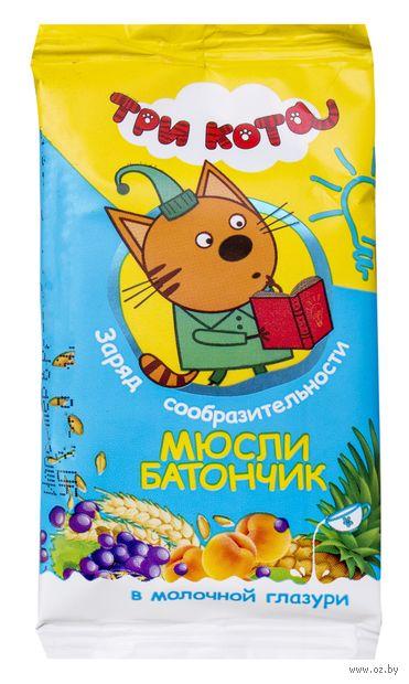 """Батончик в молочной глазури """"Три кота. Абрикос и злаки"""" (40 г) — фото, картинка"""