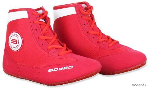 Обувь для борьбы (р. 38; красно-белая) — фото, картинка