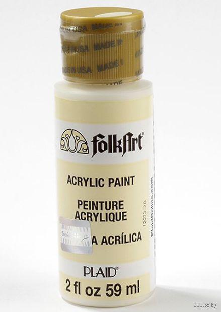 "Краска акриловая ""FolkArt. Acrylic Paint"" (теплый белый, 59 мл; арт. PLD-00649)"